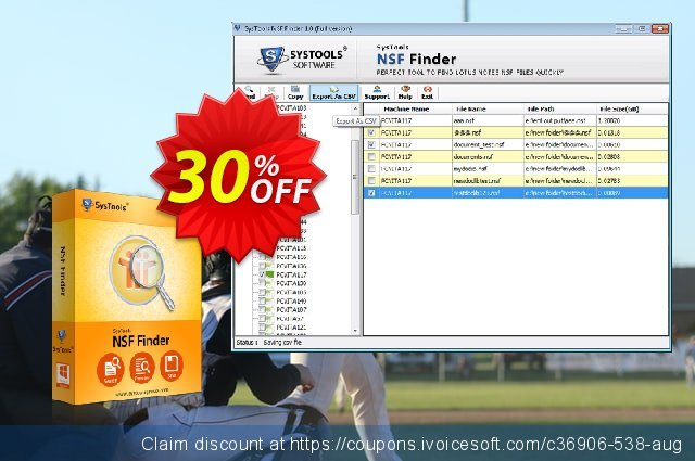 SysTools NSF Finder (Business) discount 20% OFF, 2020 Summer offering sales