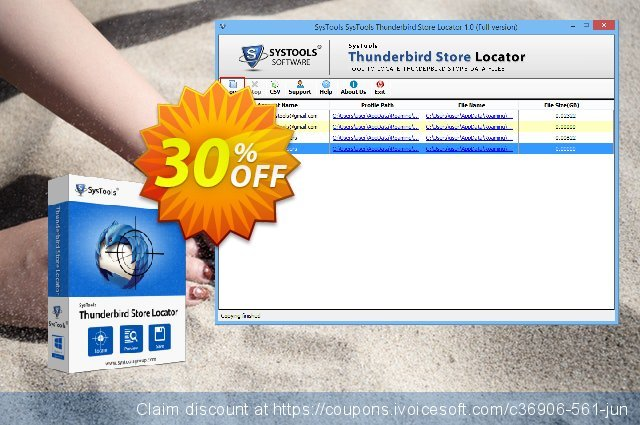 SysTools Thunderbird Store Locator discount 20% OFF, 2020 Fourth of July offering sales