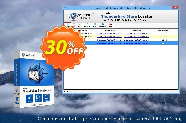 SysTools Thunderbird Store Locator (Business) 超级的 产品销售 软件截图