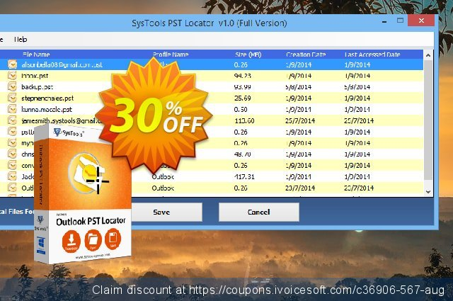 SysTools Outlook PST Locator discount 30% OFF, 2019 Thanksgiving Day promo sales