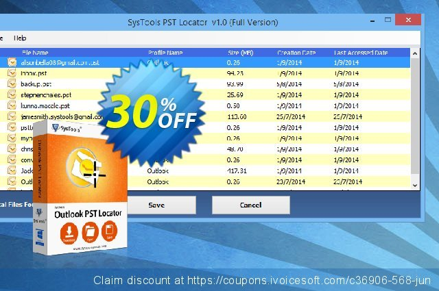 SysTools Outlook PST Locator (Business) 惊人的 折扣 软件截图