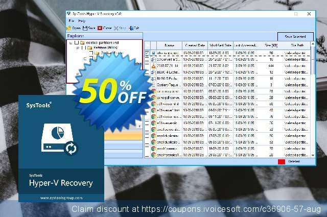 SysTools Hyper-V Recovery (Enterprise) discount 20% OFF, 2020 4th of July promo sales