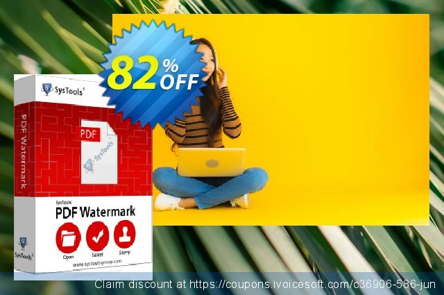 SysTools PDF Watermark discount 82% OFF, 2020 Halloween offering deals