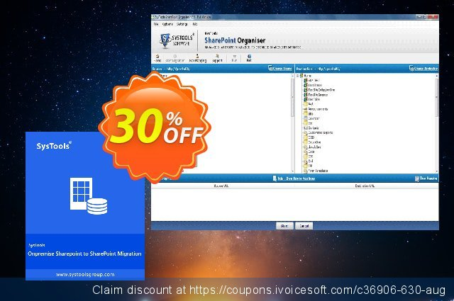 SysTools SharePoint Organiser discount 25% OFF, 2020 Working Day promo sales