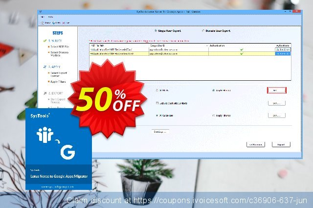 Lotus Notes to Google Apps - 500 Users License  최고의   촉진  스크린 샷