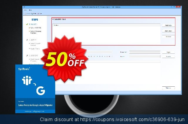 Lotus Notes to Google Apps - 5 Users License discount 30% OFF, 2020 Thanksgiving Day discount