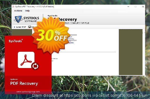 SysTools PDF Recovery (Business License) discount 30% OFF, 2019 Exclusive Student discount discount