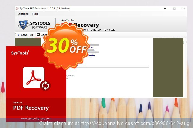 SysTools PDF Recovery (Enterprise License)  대단하   세일  스크린 샷