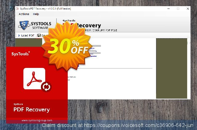 SysTools PDF Recovery (Enterprise License) 惊人的 销售 软件截图