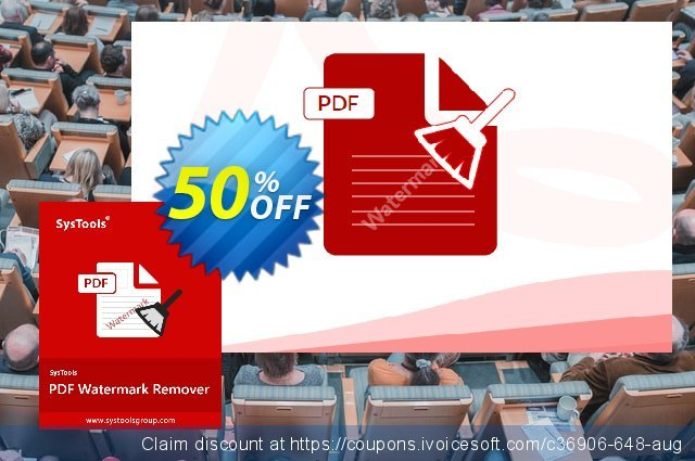 SysTools PDF Watermark Remover (Enterprise) discount 50% OFF, 2020 Summer promo sales