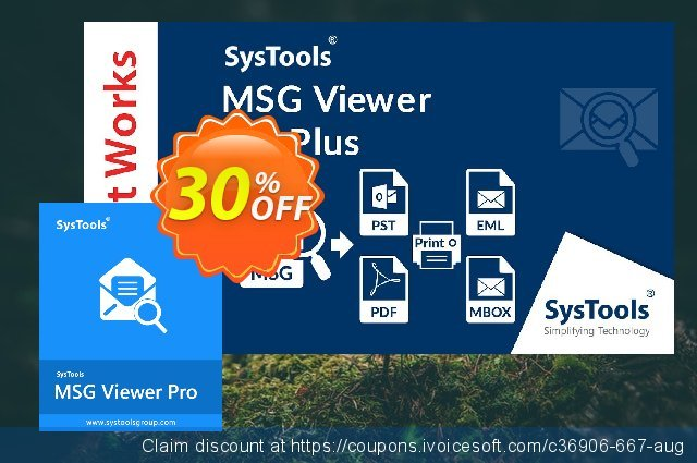 SysTools MSG Viewer Pro惊人的销售 软件截图