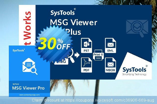 SysTool MSG Viewer Pro (25 Users) discount 25% OFF, 2020 Labour Day promo