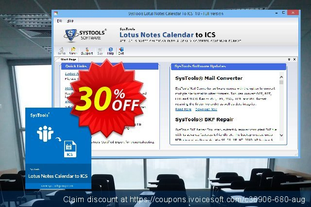 SysTools Lotus Notes Calendars to iCalendar .ICS  놀라운   매상  스크린 샷