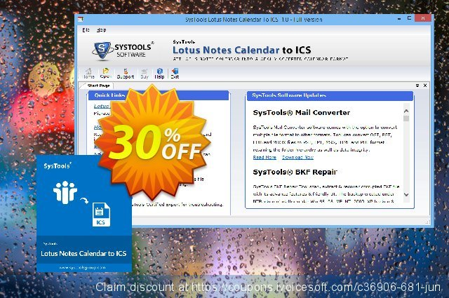 SysTools Lotus Notes Calendars to iCalendar .ICS (Business)  경이로운   세일  스크린 샷