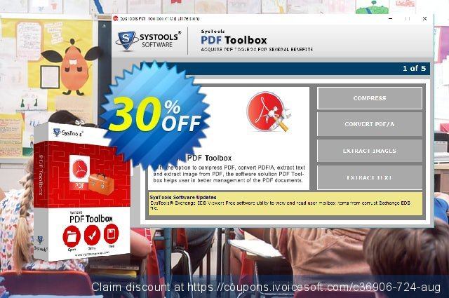 SysTools PDF Toolbox discount 20% OFF, 2019 Student deals offering sales
