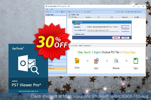 SysTools PST File Viewer Pro Plus discount 20% OFF, 2020 Summer offering sales