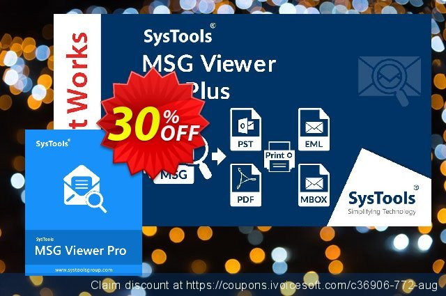 SysTool MSG Viewer Pro (50 Users) 惊人 优惠 软件截图