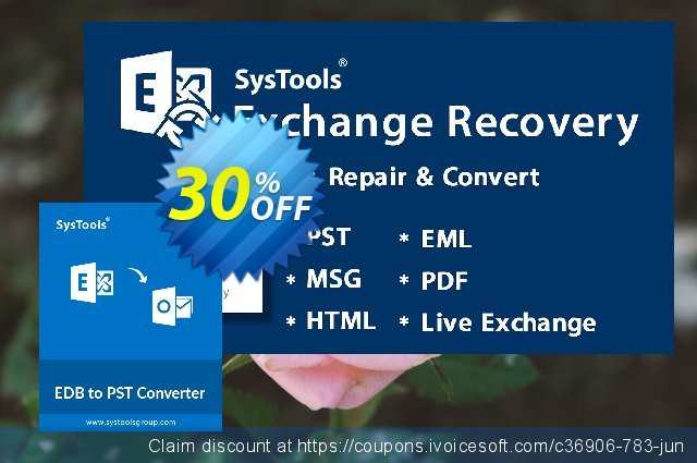 SysTools EDB to PST Converter (Corporate)  서늘해요   프로모션  스크린 샷