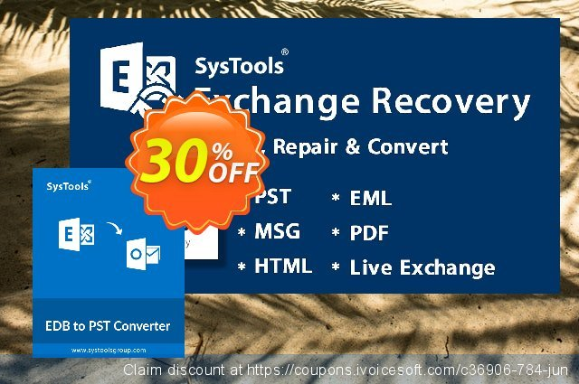 SysTools EDB to PST Converter (Technician) discount 30% OFF, 2019 Black Friday offering sales