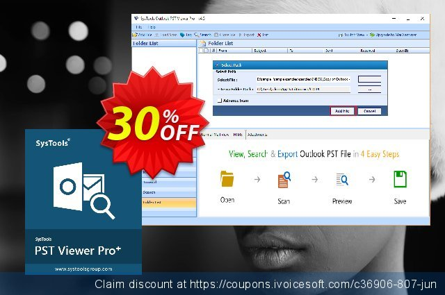 SysTools PST Viewer Pro+ Plus (25 User License) discount 30% OFF, 2021 Nude Day offering sales. SysTools coupon 36906