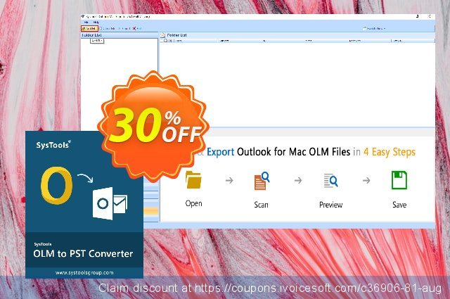 SysTools Outlook Mac OLM Recovery discount 20% OFF, 2020 Fourth of July offering sales