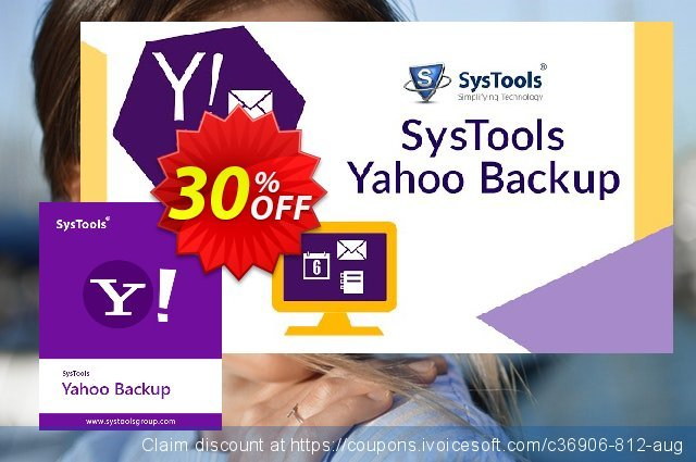 SysTools Yahoo Backup Tool (25 Users) discount 20% OFF, 2020 4th of July deals