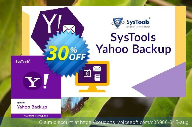 SysTools Yahoo Backup Tool (100+ Users) discount 20% OFF, 2020 New Year discounts