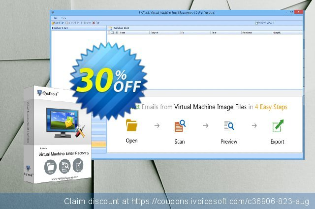 SysTools Virtual Machine Email Recovery (Business) 超级的 产品交易 软件截图