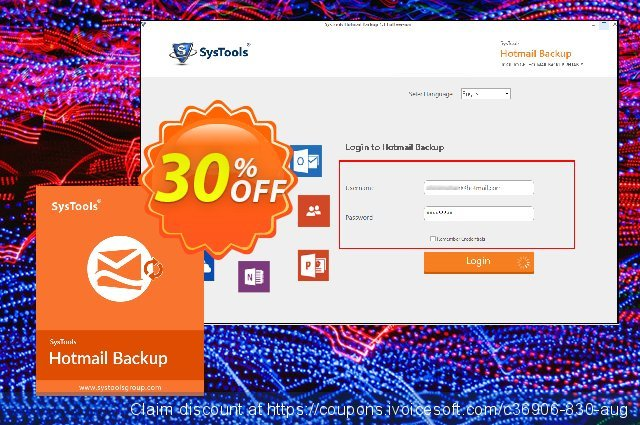 Systools Hotmail Backup (25 Users) discount 30% OFF, 2021 New Year's Day offering sales
