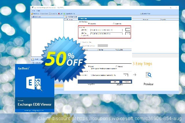 SysTools Exchange EDB Viewer - 10 Users discount 30% OFF, 2020 Thanksgiving offering sales