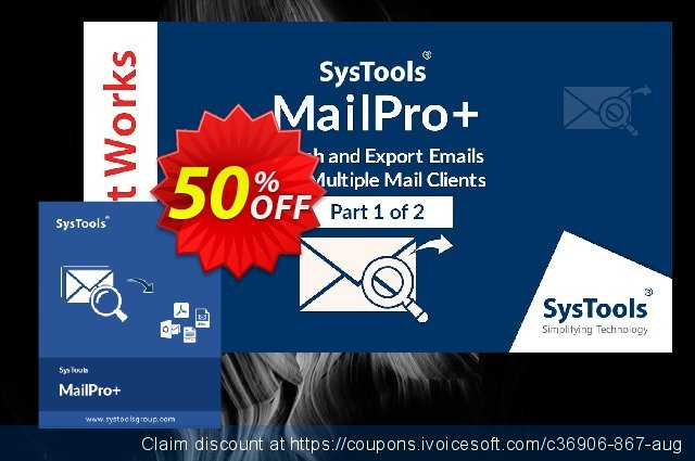SysTools MailPro Plus (All License type)  훌륭하   제공  스크린 샷