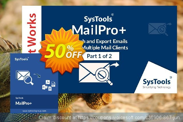 SysTools MailPro Plus (All License type)  굉장한   촉진  스크린 샷