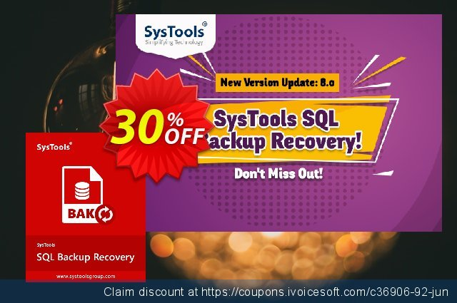 Systools SQL Backup Recovery discount 20% OFF, 2020 4th of July offering discount