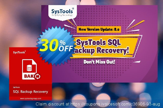 Systools SQL Backup Recovery (Business License) 令人难以置信的 交易 软件截图