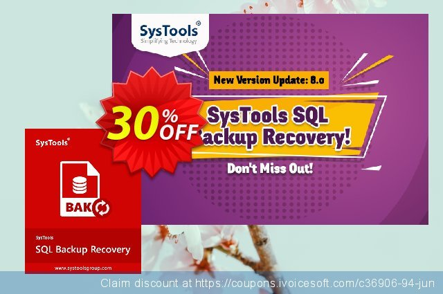 Systools SQL Backup Recovery (Enterprise License) discount 30% OFF, 2020 Teacher deals promo sales