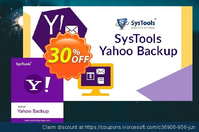 SysTools Yahoo Backup Tool discount 20% OFF, 2020 Fourth of July offering sales