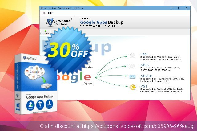 Google Apps Backup - 10 Users License 可怕的 优惠 软件截图