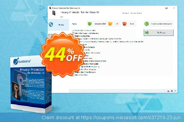 Privacy Protector for Windows 10 discount 44% OFF, 2020 Back to School shopping promo