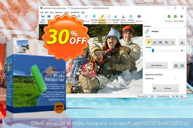 SoftOrbits Photo Retoucher - Business License discount 30% OFF, 2020 New Year offering discount