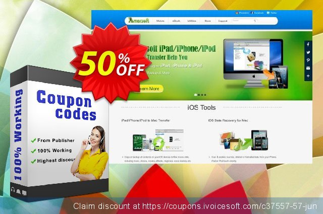 Amacsoft iPhone Backup Extractor for Mac discount 50% OFF, 2020 Labour Day offering sales
