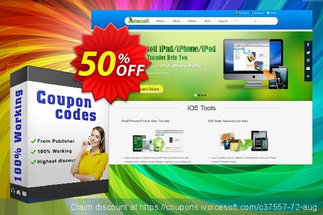 Amacsoft iPod Data Recovery discount 50% OFF, 2021 New Year's Weekend discount