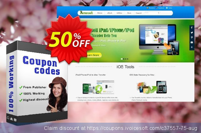 Amacsoft iPad Data Recovery for Mac discount 50% OFF, 2021 New Year's Day offering deals