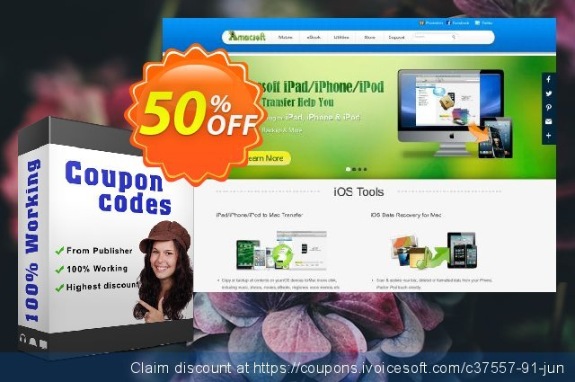Amacsoft Android SMS+Contacts Recovery (Mac Version) discount 50% OFF, 2020 Exclusive Teacher discount offering sales