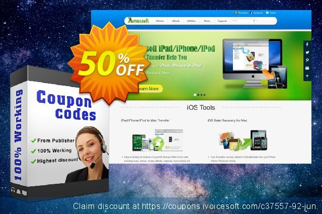 Amacsoft Android Manager for Mac discount 50% OFF, 2020 University Student offer offering sales