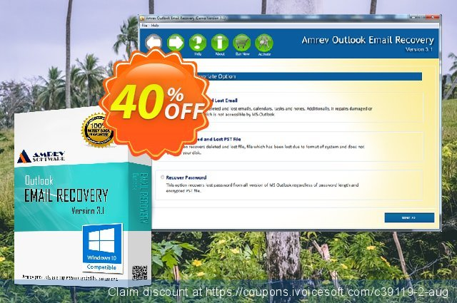 Amrev Outlook Email Recovery discount 40% OFF, 2020 4th of July offering deals