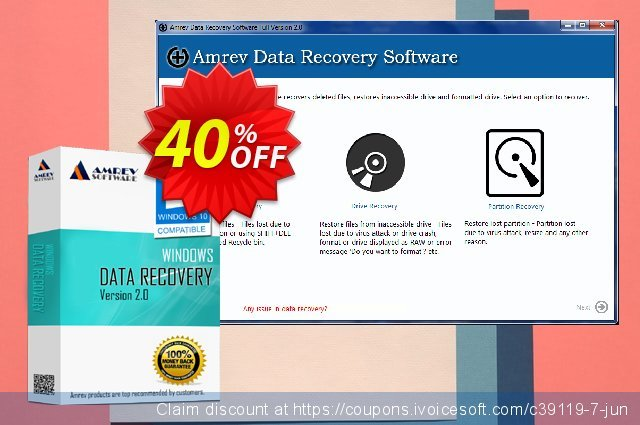 Amrev Data Recovery Software discount 40% OFF, 2020 Labour Day offering sales