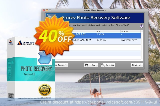 Amrev Photo Recovery Software (for MAC) discount 40% OFF, 2020 Labour Day offering sales