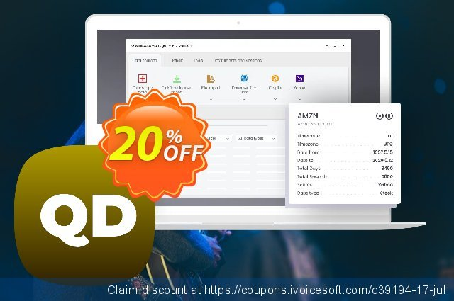 QuantDataManager discount 20% OFF, 2020 Back to School coupons offering sales