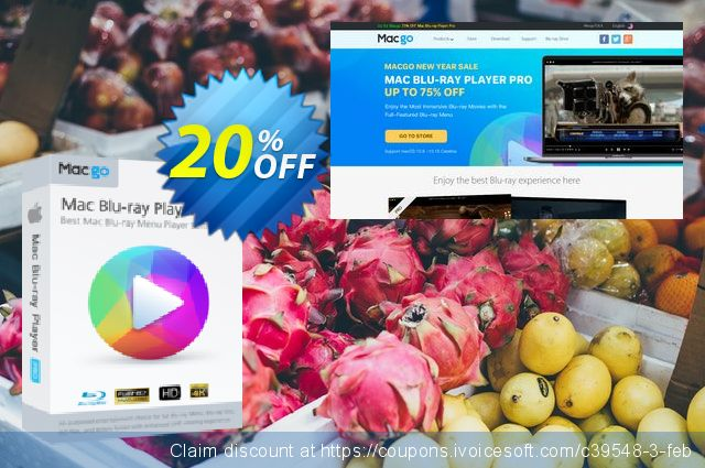 Macgo Mac Blu-ray Player Pro discount 20% OFF, 2019 Thanksgiving promo sales