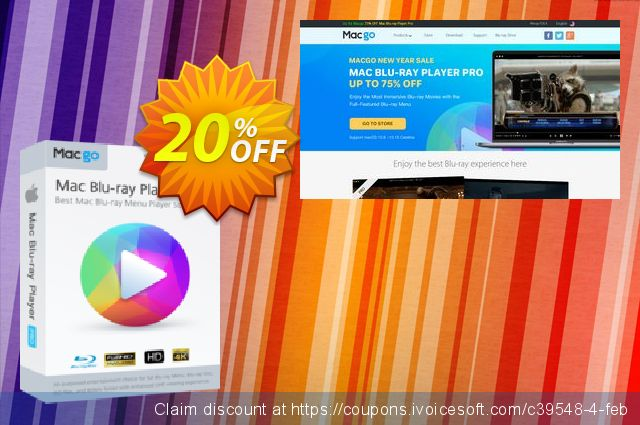 Macgo Mac Blu-ray Player Pro One Year discount 20% OFF, 2019 Thanksgiving Day promo